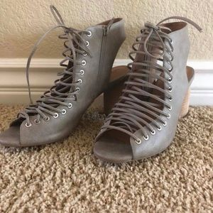Jeffrey Campbell lace up booties. Size 9.